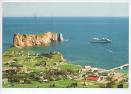 REF 270  : CPSM CANADA Le Roché Percé Beau Timbre Paquebot Titanic - Canada