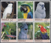 ANGOLA 2000 PAJAROS USADO - Pájaros Cantores (Passeri)