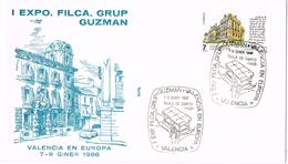 20833. Carta Exposicion VALENCIA 1986. Grup GUZMAN. Taula De Canvis - 1931-Hoy: 2ª República - ... Juan Carlos I