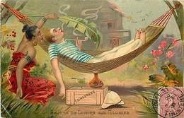 Ref N206- Histoire - Dessin Illustrateur - Aux Colonies - Heures De Loisirs - Le Hamac  - - Geschiedenis