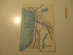 LATVIA  RAILWAY LINES MAP , SMALL POCKET CARD , 0 - Europe