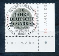 GERMANY Mi. Nr. 1996 50 Jahre Deutsche Mark - ESST Berlin - Eckrand Unten Rechts - Used - BRD