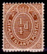 Cayman-006 - 1908 - (+) Hinged - Privo Di Difetti Occulti. - Cayman (Isole)