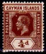 Cayman-007 - 1912-20 - (+) Hinged - Privo Di Difetti Occulti. - Cayman (Isole)