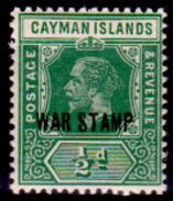 Cayman-008 - 1919-20 - (+) LH - Privo Di Difetti Occulti. - Cayman (Isole)