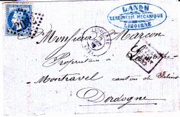 32 GIRONDE - LIBOURNE - 1868 - Marcofilia (sobres)