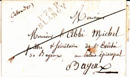 74 SEINE INFERIEURE - BLANGY - 1820 - Marcofilia (sobres)