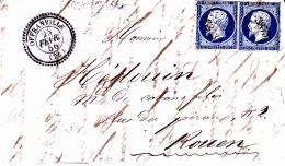 74 SEINE INFERIEURE - OFFRANVILLE (Ouville) - 1856 - Marcofilia (sobres)