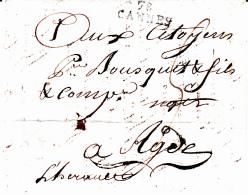 78 VAR - CANNES - 1801 - Storia Postale