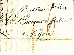 78 VAR - GRASSE - 1810 - Marcophilie (Lettres)