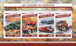 TOGO 2016 - Fire Engines, Antarctic Transport. Official Issue. - Other Means Of Transport
