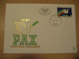 PIGEON DOVE Pigeons Doves Wien 1986 FDC Cancel Cover Austria - Pigeons & Columbiformes