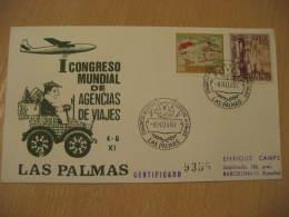 PIGEON DOVE Pigeons Doves Las Palmas De Gran Canaria Canarias 1967 Cancel Cover Spain - Pigeons & Columbiformes