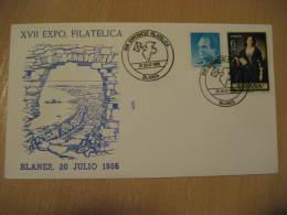 MESSENGER PIGEON VOYAGEUR DOVE PALOMA MENSAJERA Blanes Gerona Girona 1986 Cancel Cover Spain - Pigeons & Columbiformes