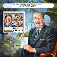 GUINEA 2016 - Walt Disney, Birds S/S. Official Issue - Passereaux
