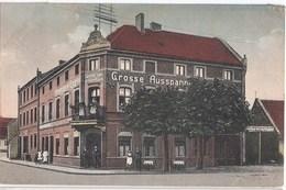 CALAU Lausitz Gasthof Zum Grünen Baum Belebt Grosse Ausspannung Fremden Logis 26.1.1924 Gelaufen - Calau