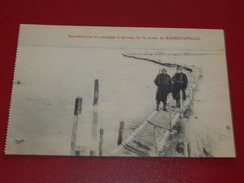 MILITARIA -  RAMSKAPELLE -  Inondations Au Passage à Niveau De La Route De Ramscapelle - Guerre 1914-18