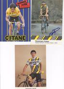 3  CARTES CYCLISTE  DOMINIQUE GAIGNE   SIGNEES - Radsport