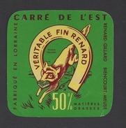 Etiquette De Fromage (Petit) Carré De L'Est  -  Véritable Fin Renard -  Renard Gillard  à  Biencourt Sur Orge  (55 ) - Fromage