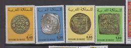 Maroc YV 746/9 MNH 1976 Monnaies Anciennes - Morocco (1956-...)
