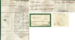 """CORPO REALI DRAGONI ESTENSI  NOVELLARA 1839 LETTERA  """"riservata"""" SU PROSTITUTE CON MALATTIE VENEREE.... - Italy"""