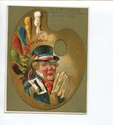 PARIS MELE Belle Chromo Dorée Grand Format Palette De Peinture Conscription Conscrits Malchance Chance AUBRY - Other