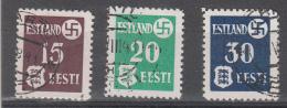 ESTLAND USED MICHEL 1/3 WAPPEN - Ocupación 1938 – 45