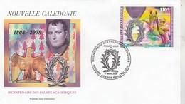 Nouvelle Calédonie FDC Yvert  1035 - Palmes Académiques - 17/3/2008 - Napoléon Aigle Cheval - FDC