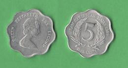 Caraibi 5 Cents 1989 - Caraibi Britannici (Territori)