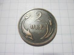 Denmark 2 Ore 1891 VF - Dänemark