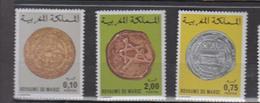 Maroc YV 797/9 MNH 1977 Monnaies Anciennes - Morocco (1956-...)