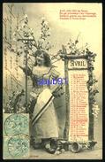 3 CPA Fantaisie - Calendrier Mois De Avril - Mai- Juin-Femme  Poème Conseils De Jardinage  -Bergeret - 34352 - Fantaisies