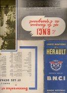 Carte Géographique - Département 34 Hérault - Offert Par La B.N.C.I. - Impression Blondel La Rougery - Roadmaps