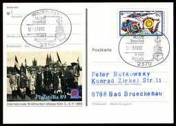 96889) BRD - SoST 2370 RENDSBURG 1 Vom 12.03.1992 Auf PSo 19 - MJ 332 Stapellauf, M 1061 Rottweil - Marcophilie - EMA (Empreintes Machines)