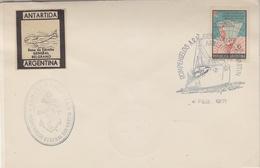 Argentina 1971 Ship San Martin + Label Base General Belgrano Ca 2 Feb 1971 (34325) - Poolshepen & Ijsbrekers