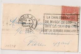 PARIS R.P. DEPART LA CHALCOGRAPHIE.....1929. - Oblitérations Mécaniques (flammes)