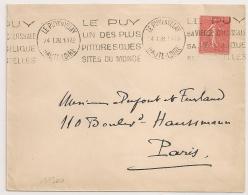LE PUY EN VELAY Haute Loire LE PUY UN DES PLUS......1928. - Oblitérations Mécaniques (flammes)