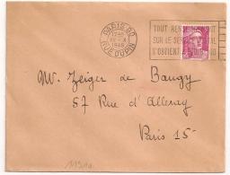 PARIS 80 RUE DUPIN TOUT RENSEIGNEMENT......1948 - Oblitérations Mécaniques (flammes)