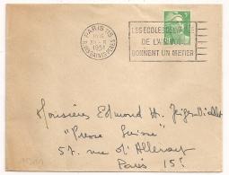 PARIS 115 R. DES SAINTS PERES LES ECOLES DE L'ARMEE.....1951 - Marcophilie (Lettres)