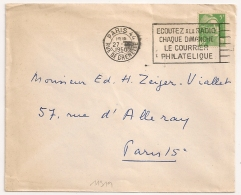 PARIS 44 RUE DE GRENELLE ECOUTEZ LA RADIO.....1950 - Oblitérations Mécaniques (flammes)