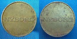 03960 GETTONE TOKEN JETON DENMARK LAUNDRY MACHINE NYBORG 1 - Fichas Y Medallas