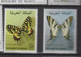 Maroc YV 894/5 MNH 1981 Papillons - Morocco (1956-...)