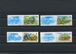 TONGA WWF 1990 Serie + Tab MNH - Unused Stamps