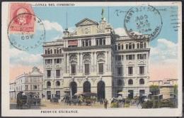 POS-242 CUBA POSTCARD 1922. LONJA DEL COMERCIO HABANA. HAVANA EXCHANGE BUILDING TO AUSTRIA. - Cuba