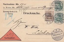 DR NN-Karte Mif Minr.84I, 2x 85I Dessau 15.7.08 Gel. Nach Lüchow - Deutschland