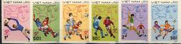 Football / Soccer / Fussball - WM 1982:  Vietnam  6 W (*), Imperf. - 1982 – Espagne