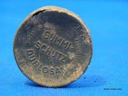 "Alu-Wehrmachtsbox ""GUMMI SCHUTZ DUBLOSAN"", Kondom - Army & War"