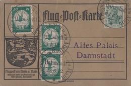 DR Flugpostkarte Mif Minr.85I, 3x Minr.III Flugpost Am Rhein Und Main 23.6.12 - Deutschland