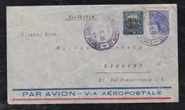 Brazil Brasil 1930 AEROPOSTALE Airmail Cover 5000R Overprint FLORIANOPOLIS To HAMBURG Germany - Posta Aerea