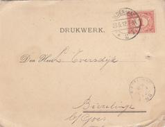 Drukwerk 28 Jun 1912 Oldenzaal *2* (langebalk) Nr Biezelinge (kleinrond) - Poststempels/ Marcofilie